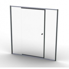 Telescopic Pivot Doors Silver