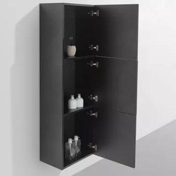 Ava Side Cabinet 1500 x 300 x 450mm Black