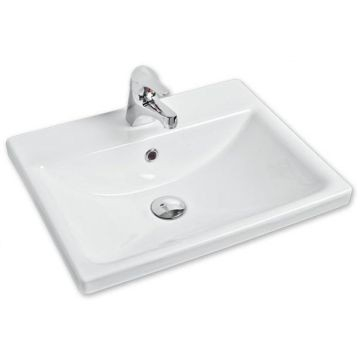 Vibe Semi Drop-In Basin 525x417x170mm White