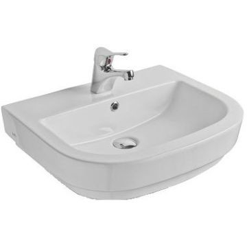Jade Countertop/W/Hung Basin 560x450x115mm White