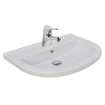 Sole Wall-Hung Basin 600x420x145mm White