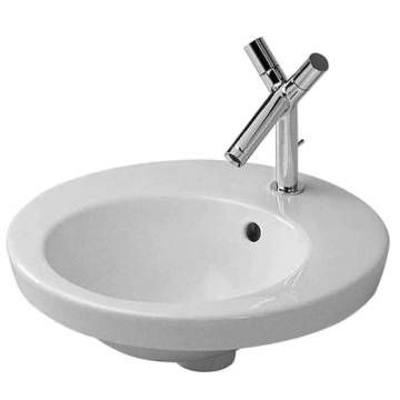 Starck 2 Countertop Basin 1 Tap Hole Punched 475mm White Alpin
