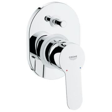 Grohe BauEdge Single Lever Bath Mixer Concealed Chrome
