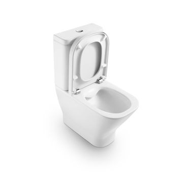 The Gap Close Coupled Suite Include Pan Seat & Cistern with Mechanism White Roca