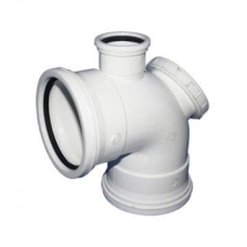 Bend PVC 90Deg IE 110mm + Vent Horn