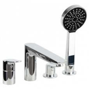 Diplomat 4 Hole Bath/Shower Mixer Chrome - AquaEco