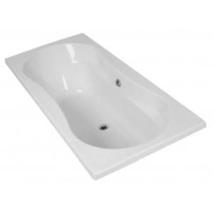Origami Drop-In Straight Bath 1800x800x520mm White