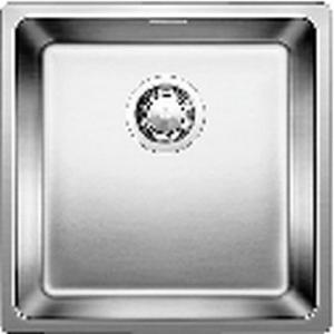 Andano 400-IF Sink Drop-In SB w/ Waste & Plumbing Kit 190x440x440mm SS Satin Polish