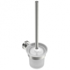 4600 Toilet Brush Holder with Toilet Brush Brushed SS - Bathroom Butler