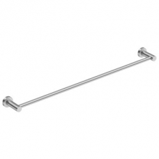 4600 Single Towel Rail 800mm Brushed Stainless Steel - Bathroom Butler