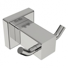 8500 Double Robe Hook Polished Stainless Steel - Bathroom Butler