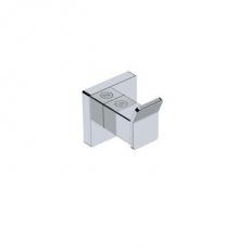 Elemental Robe Hook Single 50x56x53mm Chrome - Liquid Red
