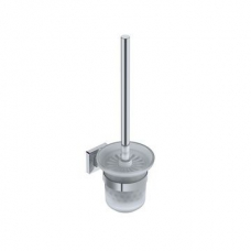 Elemental Toilet Brush & Holder 114x149x380mm Chrome - Liquid Red