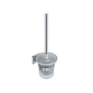 Elemental Toilet Brush & Holder 114x149x380mm Chrome - Liquid Red