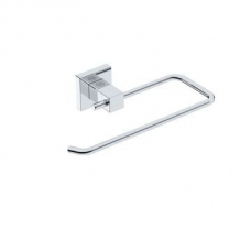 Elemental Towel Ring Open 223x130x50mm Chrome - Liquid Red