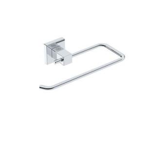 Elemental Towel Ring Open 223x130x50mm Chrome - Liquid Red