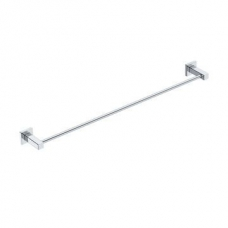 Elemental 800mm Single Towel Rail 775x 95x50mm Chrome - Liquid Red