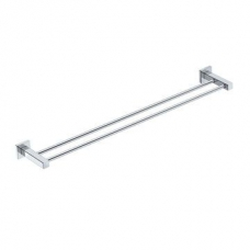 Elemental 800mm Double Towel Rail 775x135x50mm Chrome - Liquid Red