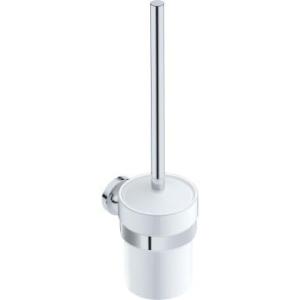 Eternal Toilet Brush & Holder 98x148x391mm Chrome - Liquid Red
