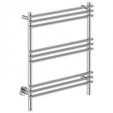 Loft Wide Heated Towel Rail 9 Bar PTS Polished Stainless Steel - Bathroom Butler