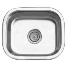 Prep Bowl Square 450x385x165mm (Bowl 400x330mm) incl. 90mm Waste Stainless Steel