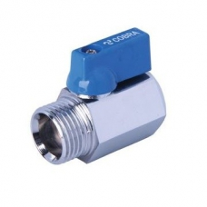 Cobra Ball Valve with Plastic Coated Alu Die-Cast Lever MxF 15mm (1/2'') Chrome