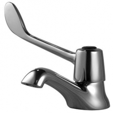 Cobra Medical Elbow-Action Pillar Tap with Red Indice Chrome