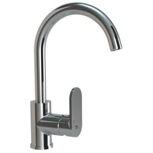 Bordo Round Pillar Sink Mixer Pipe Spout Chrome