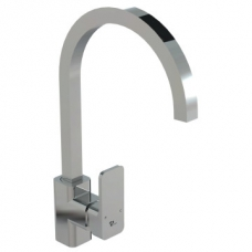 Bordo Square Pillar Sink Mixer P/Spout Chrome