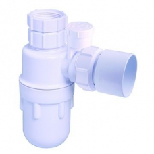 McAlpine Silent Bottle Trap Adj Inlet 32mm White