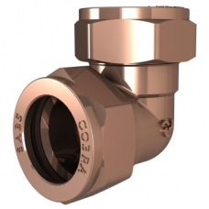Cobra Compression Elbow 90° CxC 22mm Brass