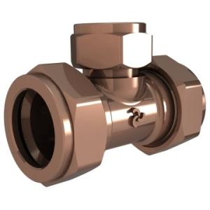Cobra Compression Reducing Tee CxCxC 22x22x15mm Brass