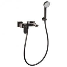 Bordo Round Ebony Bath Mixer Exposed