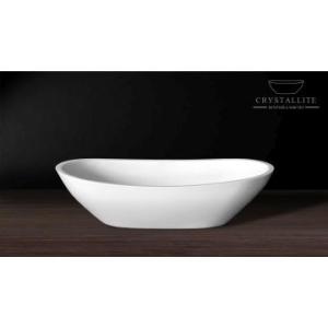 Layla Countertop Basin 570 x 290 x 150mm Polished White - Crystallite
