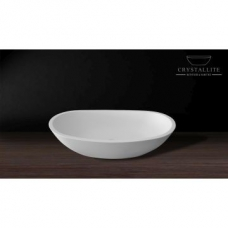 Layla Wide Countertop Basin 585 x 320 x 150mm Polished White - Crystallite