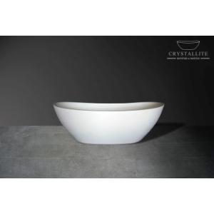 Baby Layla Freestanding Bath 1635 x 820 x 555mm Polished White - Crystallite