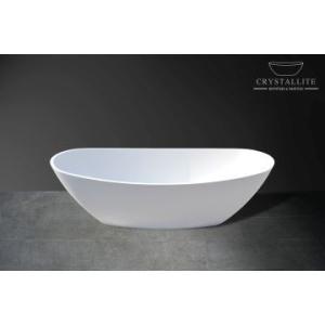 Baby Layla Slimline Freestanding Bath 1660 x 815 x 555mm Polished White - Crystallite