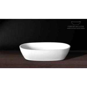 Luna Small Countertop Basin 485 x 290 x 120mm Polished White - Crystallite