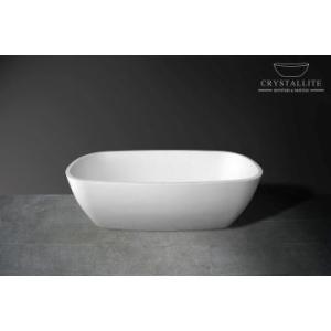 Luna Freestanding Bath 1805 x 860 x 510mm Polished White - Crystallite