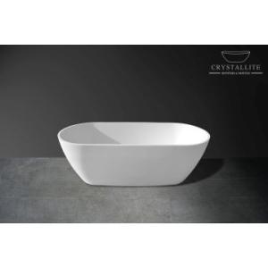 Luna 1.7 Freestanding Bath 1730 x 755 x 555mm Polished White - Crystallite