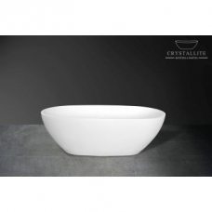 Baby Rhea Freestanding Bath 1580 x 820 x 480mm Polished White - Crystallite