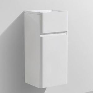 Milan Mini Side Cabinet Wall-Hung 750x350x300mm Gloss White