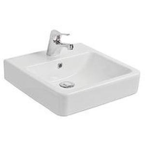 Pura Countertop Square Basin 450x450x105mm White