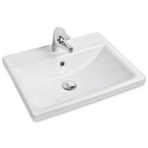 Vibe Semi Drop-In Basin 525x417x170mm White