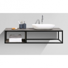 Picasso/Florence Basin Countertop Basin White and Vanity Shelf 1310x525x286mm Combo