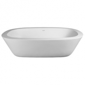 Acanthus Freestanding Bath Wide-Rim w / Internal Overflow 1855x1130x555mm Pearl White