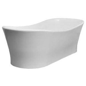 Elegance Slipper Freestanding Bath no Overflow 1770x780x575/520mm Gloss White