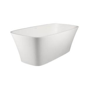 Carmen Freestanding Bath No Overflow 1760x770x590mm Pearl White