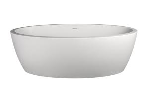 Maya Freestanding Bath No Overflow 1710x890x570mm Pearl White