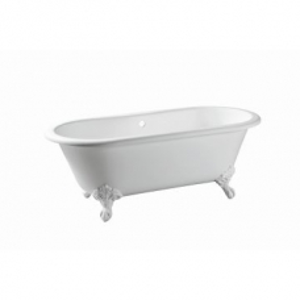 Warwick Freestanding Bath No Overflow 1700x775x630mm Gloss White incl Feet
